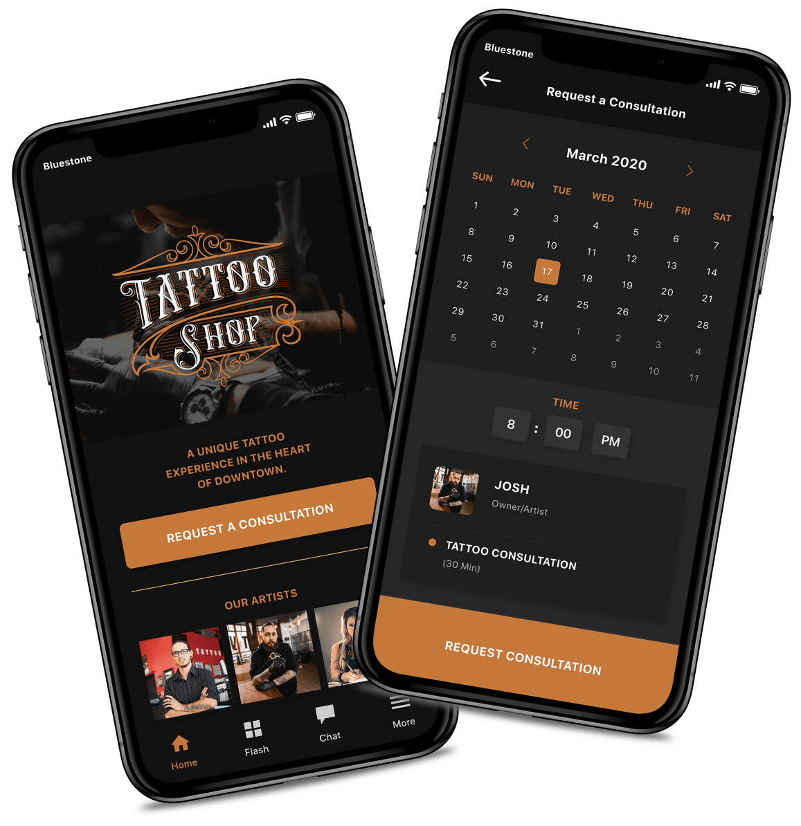 Tattoo-Artist-Booking-and-Calendar-App-Screens