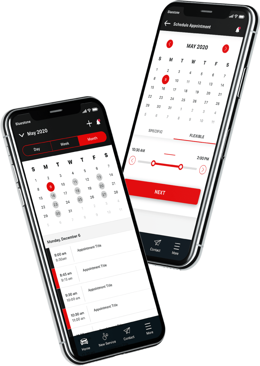 used-car-sales-salesperson-calendar-and-schedule-appointment-app-screens