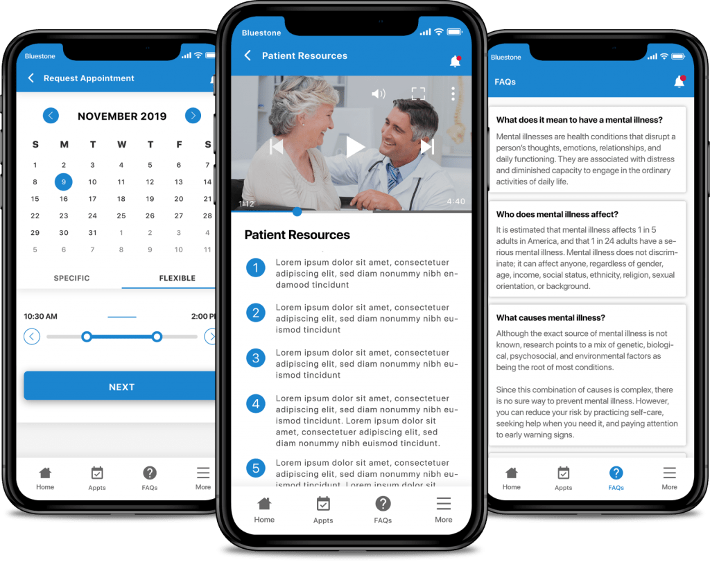mental-health-care-app-patient-resources-appointments-and-faq-app-screens