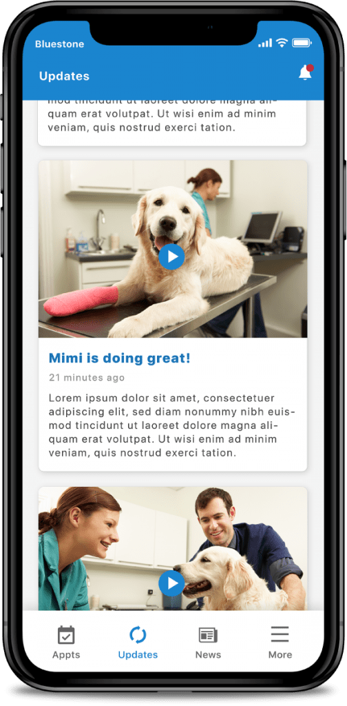 veterinarian-app-pet-updates-app-screen